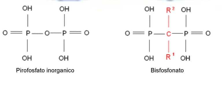 Osteonecrosi: formula dei bifosfonati