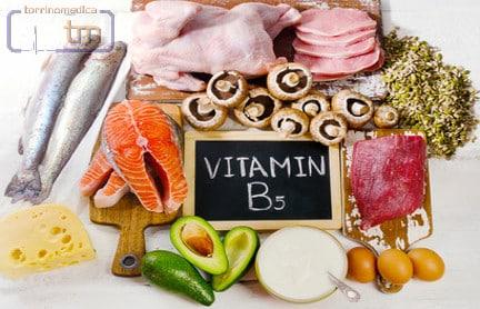 Vitamina B5 o Acido Pantotenico: funzioni, carenza, fonti