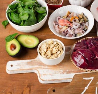 Zinco negli alimenti: tabella dei contenuti