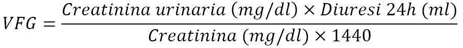 Formula della creatinina clearance