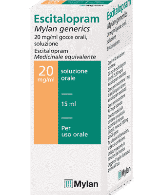 escitalopram gocce: la confezione