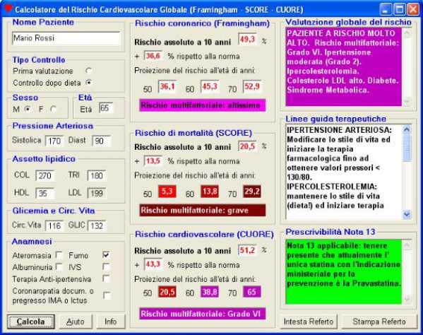 schermata cvd-risk